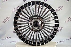 Jogo De Rodas Land Rover Evoque 2020 Preto Diamantado 5x120 - 22x9,5
