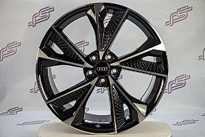 Jogo De Rodas Audi Rs7 2020 Preto Diamantada 5x112 - 20x9