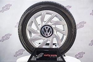 Jogo De Rodas VW UP TSI 2019 Original Prata 4x100 - 15x5,5 (Com Pneus)