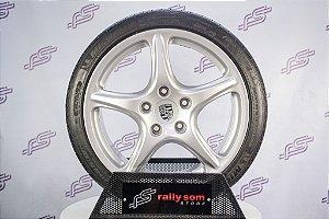 Jogo de Rodas Porsche Cayman 5-pontas Original 5x130 - 19x8 E 19x9,5 (Com Pneus)