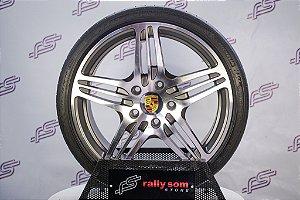 Jogo De Rodas Porsche 997 F458 Turbo  5x130 - 19x8,5 E 19x11 (Com Pneus)