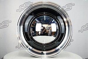 Roda Smoothie Preta Diamantada Aro 15 / Tala 6 / Furação 6x139,7