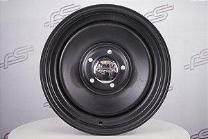 Roda U.S Wheels Aço Preto Fosco Aro 15 / Tala 5 / Furação 5x120