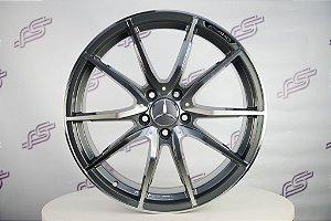 Jogo De Rodas Mercedes AMG GT-S 2018 Grafite Diamantado  5x112 - 19x8