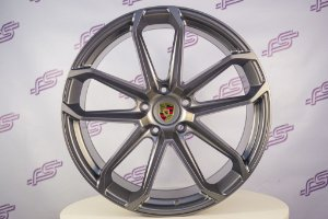 Jogo De Rodas Porsche Cayenne Gts 2020 Grafite 5x130 - 22x10 e 11,5