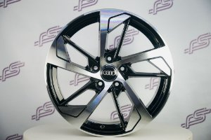 Jogo De Rodas Audi Rs5 2018 Preto diamantado 5x112 - 18x8