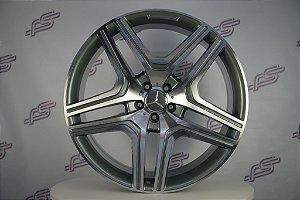 Jogo De Rodas Mercedes ML-63 Grafite Diamantado 5x112 - 22x10