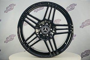 Jogo De Rodas Mercedes SL-63 Preto Brilhante 5x112 - 19x8,5 Offset 45