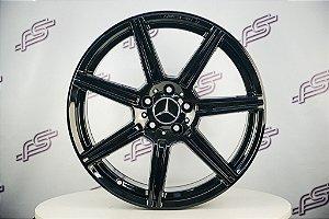 Jogo De Rodas Mercedes E-63 Preto Brilhante 5x112 - 19x8,5 E 19x9,5