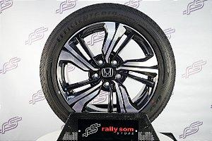Jogo De Rodas Honda Civic Touring 2019 Original Preto 5x114,3 - 17x7 (Com Pneus)
