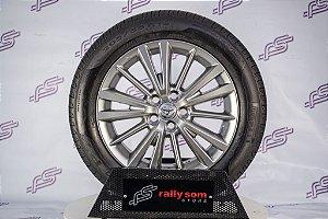 Jogo de Rodas Toyota Corolla 2011 Original Cromo Loock 5x100 - 16x6,5 (Com Pneus)