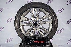 Jogo De Rodas Toyota Corolla RSX 2017 Original Cromo Loock 5x100 - 17x7 (Com Pneus)