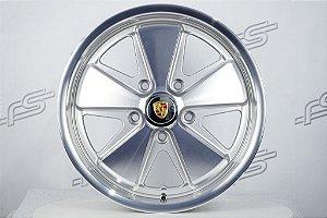 Roda 911 Fuchs Prata Diamantada Aro 17 / 5 Furos (5x130)