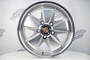 Roda 911 Fuchs Prata Diamantada Kombi Aro 15 / 5 Furos (5x112)