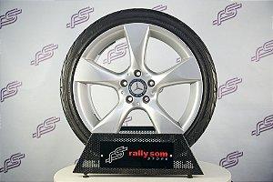 Jogo De Rodas Mercedes SLK 250 2014 Original Prata 5x112 - 18x7,5 E 18x8,5 (Com Pneus)