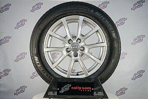 Jogo De Rodas Audi Q5 Original Prata 5x112 - 18x8 Offset 39 (Com Pneus)