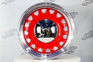 Roda Artillery Vermelha Borda Diamantada Aro 18 / Tala 8 / 5 e 6 Furos