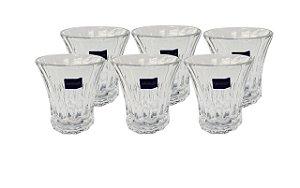 Jogo C/ 6 Copos de Vidro para Whisky
