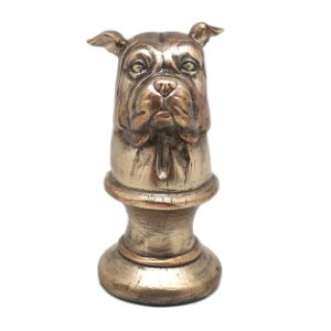 Estatua Resina Bulldog com base  14x7cm