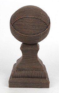 Objeto Decorativo Resina com Textura Transada 17,5x8,5cm