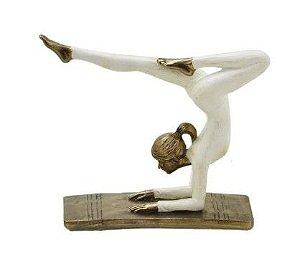 Estatueta Mulher Yoga Decorativa
