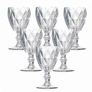 Jogo de Taças Diamond 6 peças Transparente 320 ml