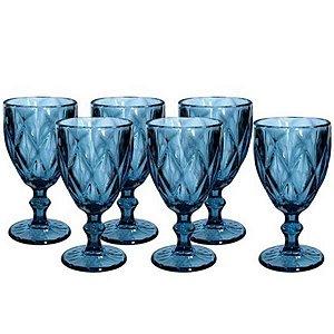 Jogo de Taças Diamond 6 peças Azul