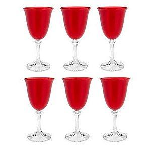 Taça Água 350 ml Bohemia Vermelha