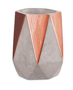 Cachepot de Cimento Hexagonal Comprido