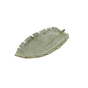 Petisqueira Folha de Bananeira em Cerâmica 29 cm