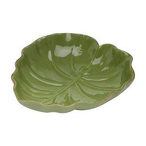 Prato Folha em Cerâmica 23 cm