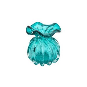 Vaso Murano de Vidro Italy Tiffany 10x11cm