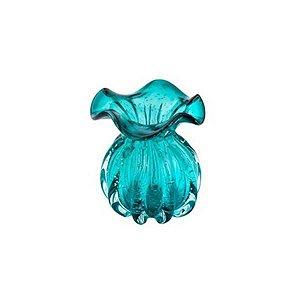 Vaso Murano de Vidro Italy Tiffany 11,5x13cm