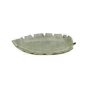 Folha Decorativa de Cerâmica Banana Leaf