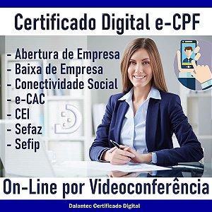 Certificado Digital CPF A1 01 ano