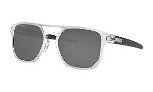 Óculos Oakley Lacht Alpha Matte Silver Prizm Black Polarizado