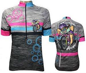 Camisa de Ciclismo Feminina Muhu Action Girl