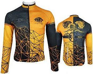 Camisade Ciclismo Manga Longa Muhu Mountain Gold