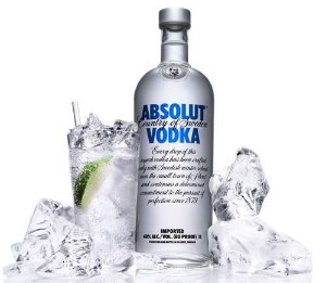 Vodka Absolut Natural 1000 ml