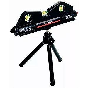 Nível A Laser Prumo 170mm Com Tripe De 150mm 3 Bolhas - Mtx