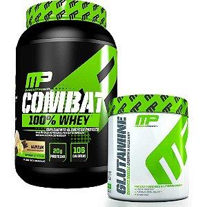 kit c/ 1 Whey Combat 100% + Glutamina 300g - Musclepharm