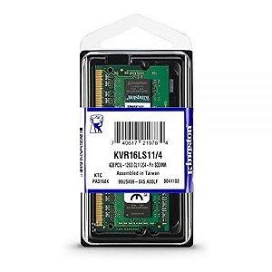 Memoria RAM DDR3L Kingston 1600 MHz 4 GB KVR16LS11/4