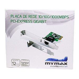 Placa De Rede 10/100/1000Mbps PCI Express Gigabit – Mymax