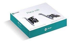 PLACA USB VINIK COM 2 USB 3.0 PCI-E X1 COM LOW PROFILE