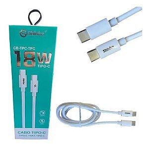 CABO USB-C PARA USB-C 18W (CB-TPC-TPC SHINKA)