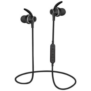 Fone de Ouvido Esportivo Intra-Auricular Bluetooth com Microfone e MicroSD Preto