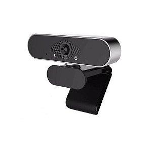 Webcam Hd 1080p Full Hd + Microfone E Redução Ruido Prata Hh-usb25