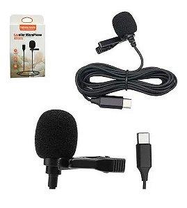Microfone De Lapela Usb Entrada Tipo-c