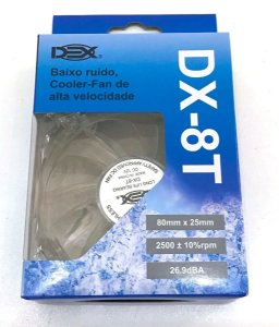Cooler Fan Dex 80mm dx8t Led azul