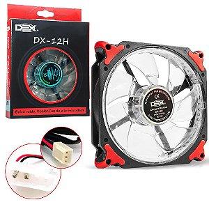 Cooler fan 120mm 32 Leds Extra Forte DX-12H vermelho